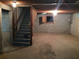 East Lansing Meridian Township Basement Before