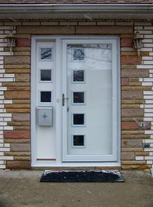 Lansing Front Door and Sidelight